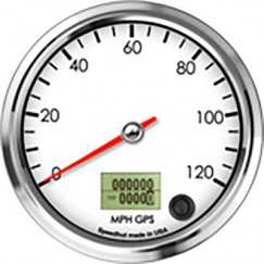 Speedometer-White-Face-Front